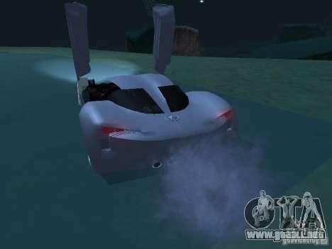 Chevrolet Corvette Stingray para GTA San Andreas vista posterior izquierda