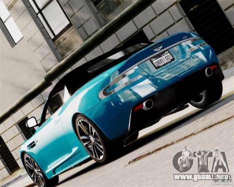Aston Martin DBS Volante 2010 v1.5 Diamond para GTA 4 visión correcta