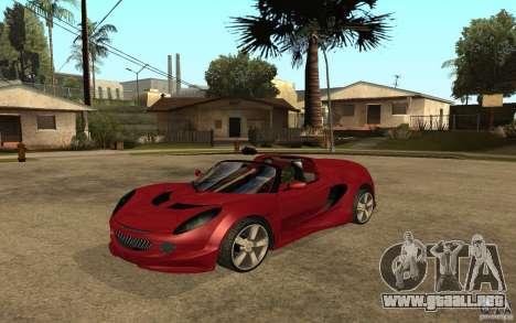 Lotus Elise from NFSMW para GTA San Andreas vista posterior izquierda