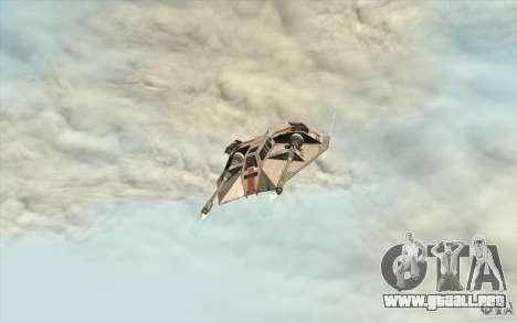 T-47 Snowspeeder para GTA San Andreas vista hacia atrás