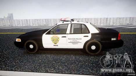 Ford Crown Victoria Raccoon City Police Car para GTA 4 left