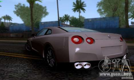 Nissan GTR R35 Tuneable para GTA San Andreas left
