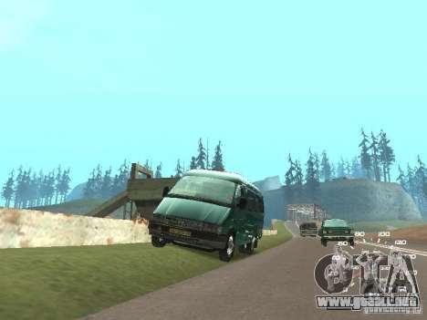 GAZ 32213 para GTA San Andreas vista posterior izquierda