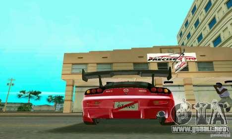 Mazda RX7 Charge-Speed para GTA Vice City vista posterior