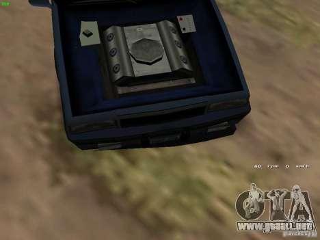 Willard Drift Style para GTA San Andreas vista hacia atrás