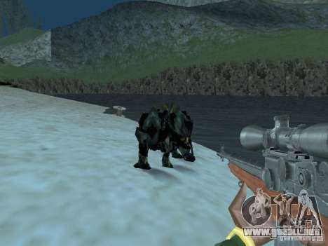Monstruos submarinos para GTA San Andreas sucesivamente de pantalla