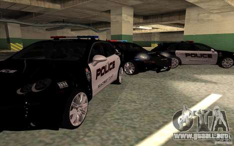 Porsche Cayenne Turbo 958 Seacrest Police para GTA San Andreas vista hacia atrás
