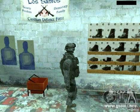 Soldado de infantería piel CoD MW 2 para GTA San Andreas tercera pantalla