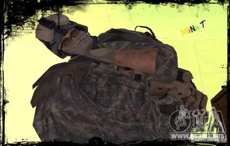 Soldado de infantería de Estados Unidos para GTA San Andreas tercera pantalla