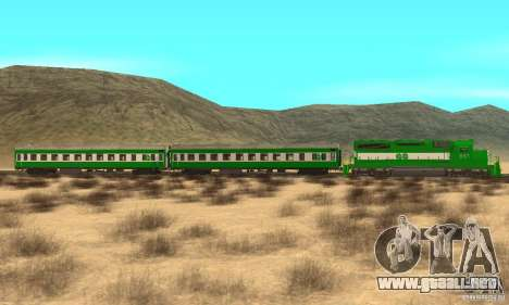 THE GO Transit Train para GTA San Andreas left