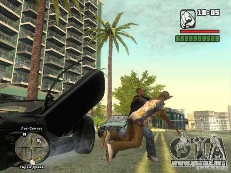 LA camiseta MIZ para GTA San Andreas sucesivamente de pantalla