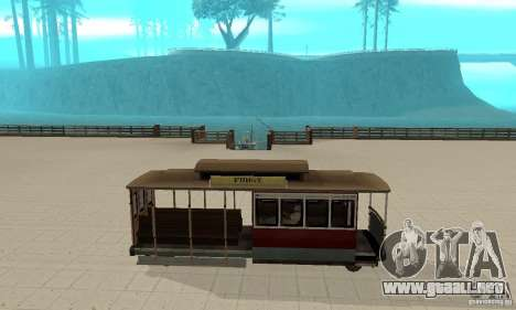 Tram para GTA San Andreas vista posterior izquierda