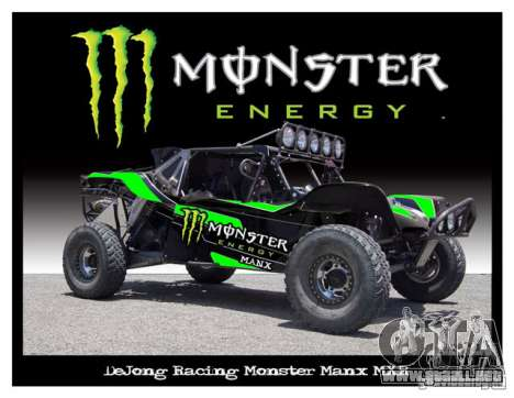 Pantalla de arranque de Monster Energy para GTA San Andreas