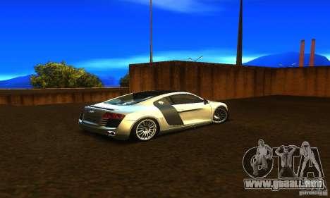 Audi R8 V12 TDI para GTA San Andreas vista posterior izquierda