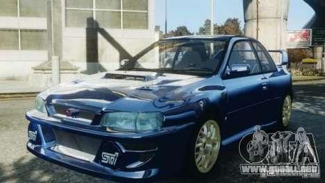 Subaru Impreza 22B 1998 para GTA 4 visión correcta