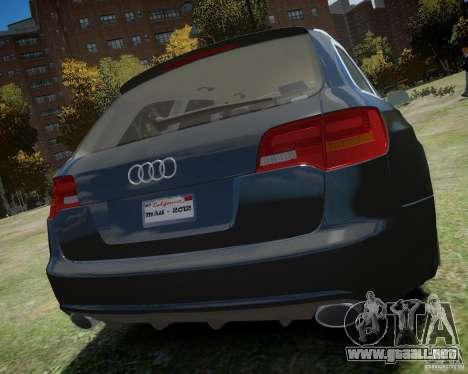 Audi A6 Avant Stanced para GTA 4 visión correcta