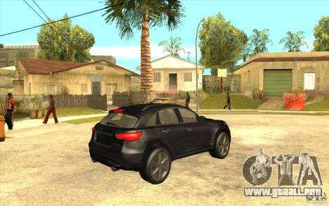 Infiniti FX50 Beta para la visión correcta GTA San Andreas