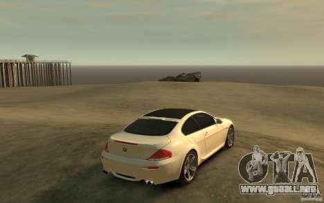 BMW M6 2010 v1.4 para GTA 4 visión correcta