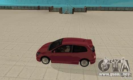 Honda Civic Type R - Stock + Airbags para GTA San Andreas vista posterior izquierda