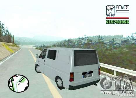 Ford Transit 1999 para GTA San Andreas vista posterior izquierda