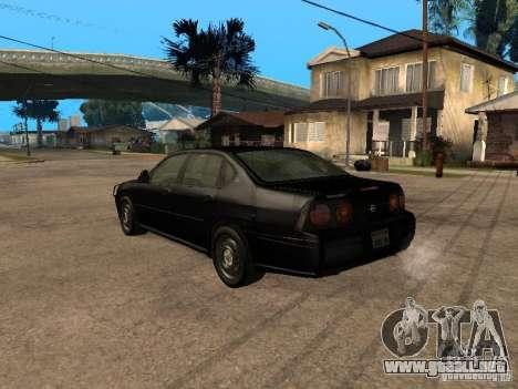 Chevrolet Impala Undercover para GTA San Andreas left