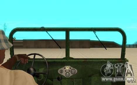 Gaz-67 para la visión correcta GTA San Andreas