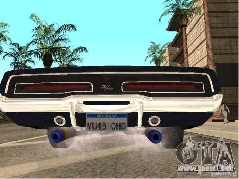Dodge Charger RT Light Tuning para GTA San Andreas vista posterior izquierda