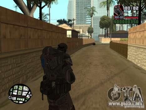Marcus Fenix de Gears of War 2 para GTA San Andreas sucesivamente de pantalla