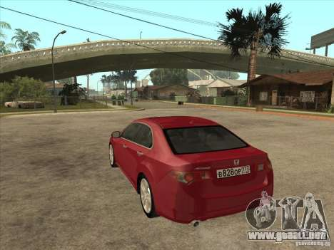 Honda Accord 2010 para GTA San Andreas vista posterior izquierda