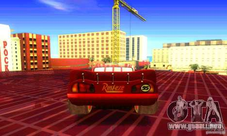 MCQUEEN from Cars para GTA San Andreas left