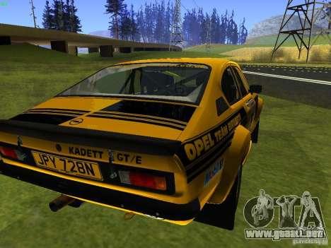 Opel Kadett para GTA San Andreas left