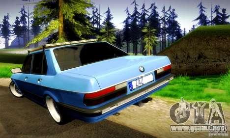 BMW E28 525e RatStyle No1 para la vista superior GTA San Andreas
