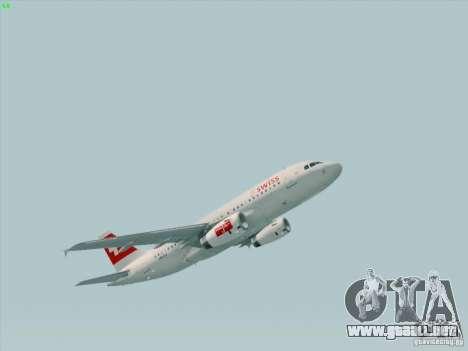 Airbus A319-112 Swiss International Air Lines para GTA San Andreas left