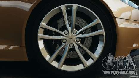 Aston Martin DBS Volante [Final] para GTA 4 vista desde abajo