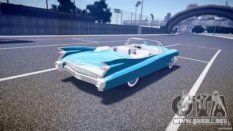 Cadillac Eldorado 1959 interior white para GTA 4 vista superior
