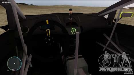 Ken Block Ford Fiesta 2011 para GTA 4 vista interior