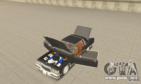 Cadillac Coupe DeVille 1985 para GTA San Andreas vista hacia atrás