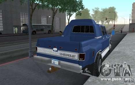 Chevrolet Silverado 3500 para GTA San Andreas vista posterior izquierda