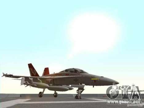 FA-18D Hornet para GTA San Andreas left