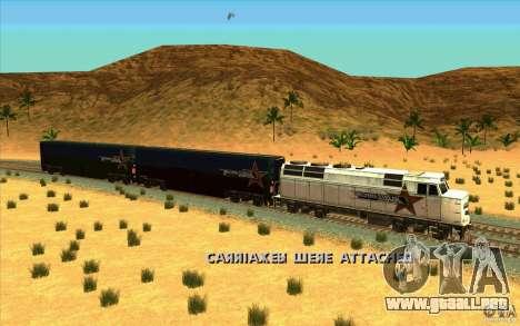 Desenganche de vagones para GTA San Andreas sucesivamente de pantalla