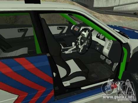 Nissan Skyline Indonesia Police para GTA San Andreas vista posterior izquierda