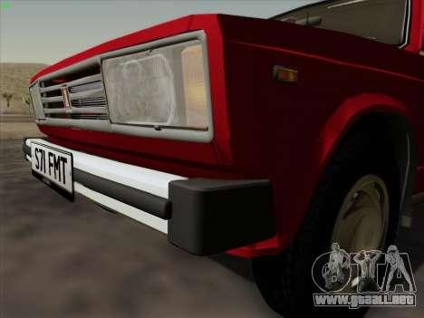 Lada 2105 RIVA (exportación) 2.0 para GTA San Andreas vista hacia atrás
