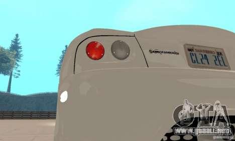 Panoz Esperante GTLM 2005 para visión interna GTA San Andreas