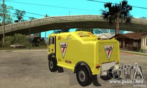 MAN TGA Rally OFFROAD para la visión correcta GTA San Andreas