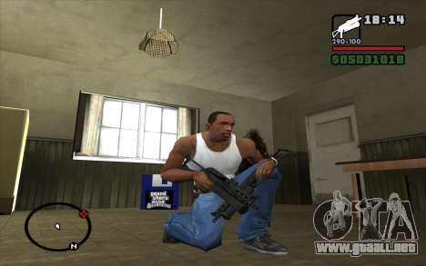 PP-19 Bizon para GTA San Andreas tercera pantalla