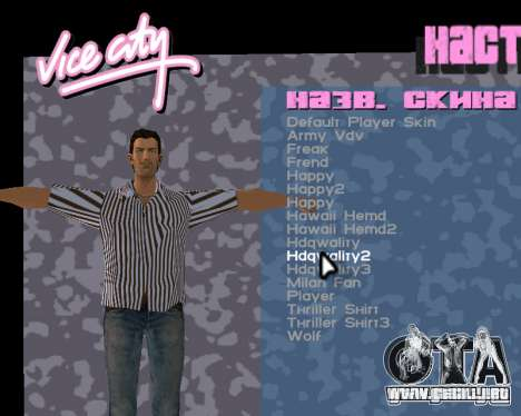 Tommy piel para GTA Vice City quinta pantalla
