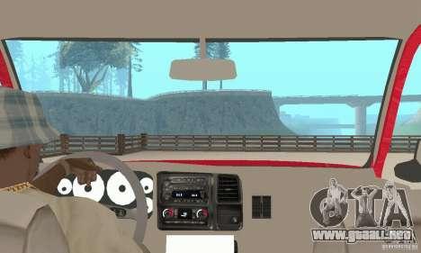 Chevrolet Tahoe 1992 para GTA San Andreas vista hacia atrás