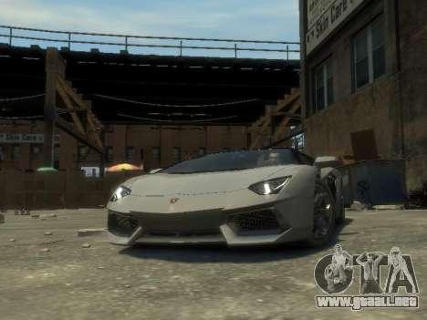 Lamborghini Aventador LP700-4 EPM para GTA 4 vista hacia atrás