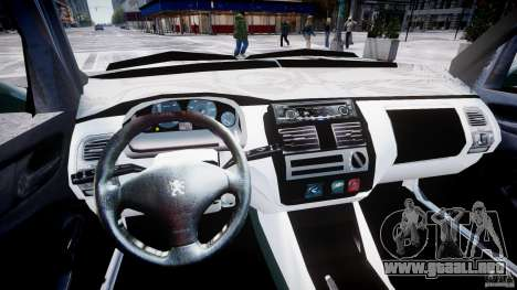 Peugeot 106 Quicksilver para GTA 4 vista interior