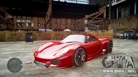 Porsche 918 Spyder Concept para GTA 4